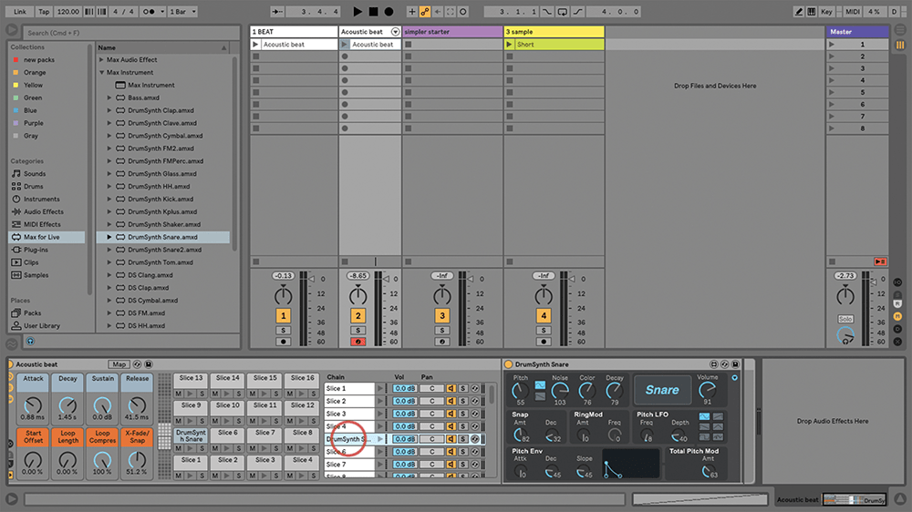 Slicing Samples with Beats and Tones in Ableton Live
