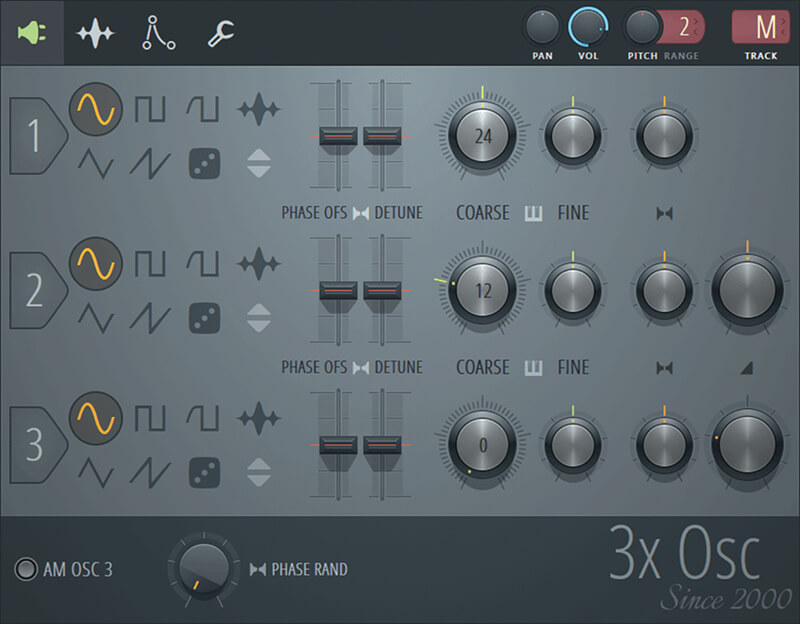 FL Studio 20 - 3x osc