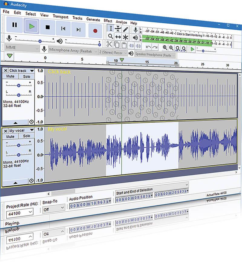 XTRAX STEMS alternative - Audacity