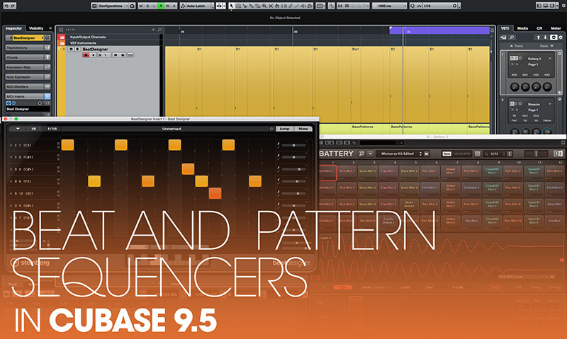 Beat and Pattern Sequencers in Cubase 9.5 - Hero
