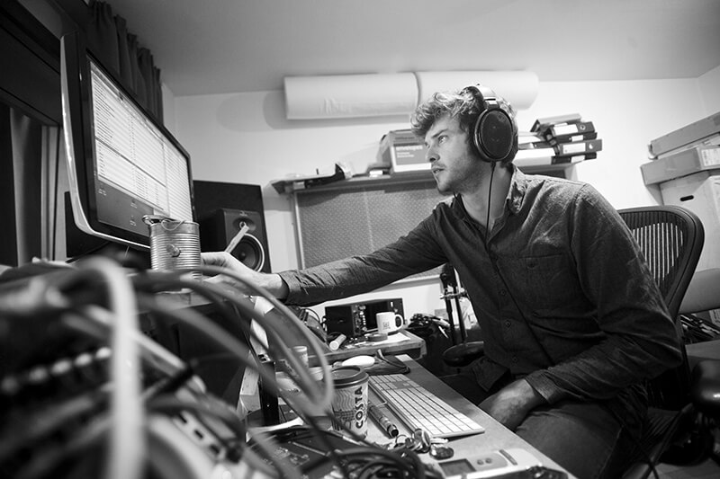 Charlie Andrew - At work in the studio
