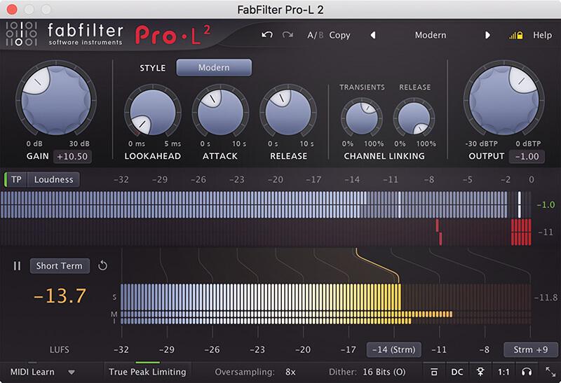 FabFilter Pro-L 2 - Screenshot