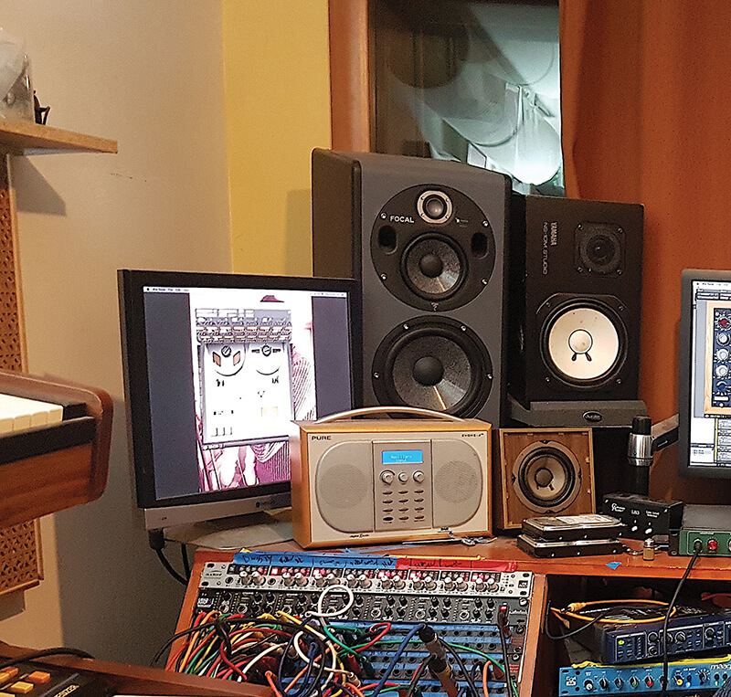 Charlie Andrew - Focal and NS10 monitors