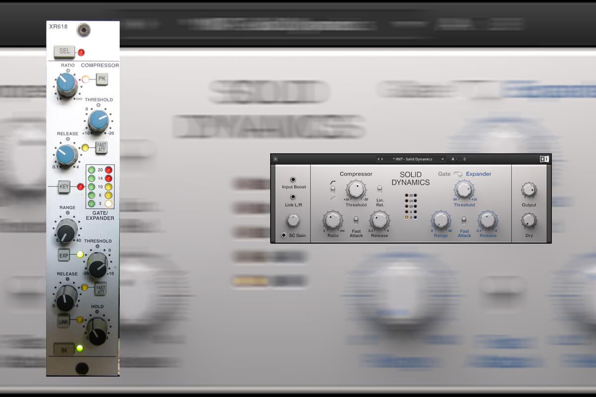 Hardware vs Software: SSL XR618 Dynamics vs Native Instruments Solid Dynamics