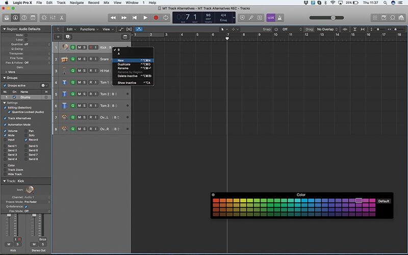 Track Alternatives in Logic Pro X - Step 10