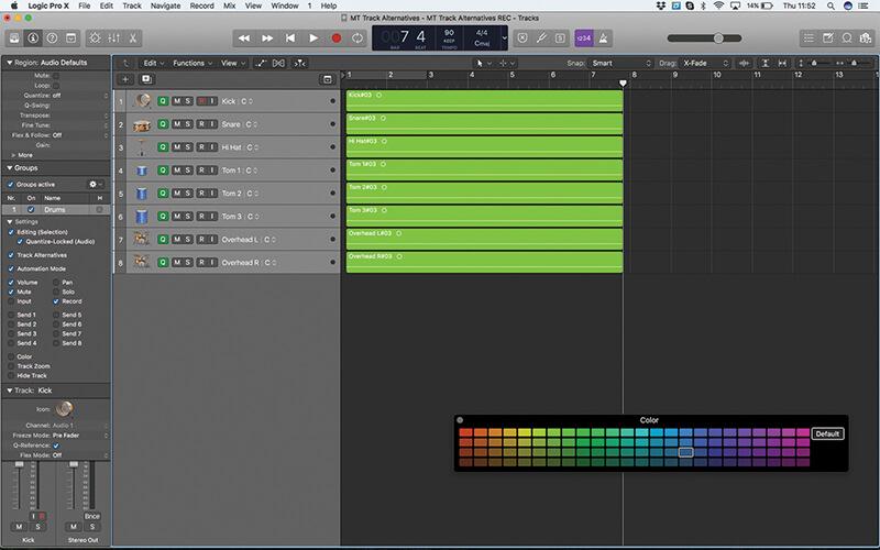 Track Alternatives in Logic Pro X - Step 11