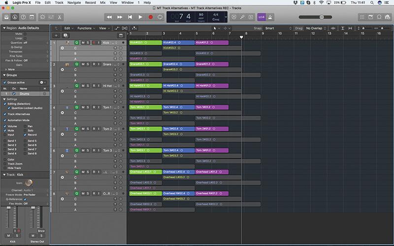Track Alternatives in Logic Pro X - Step 14