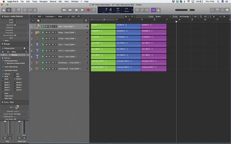 Track Alternatives in Logic Pro X - Step 15