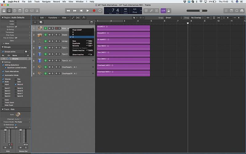 Track Alternatives in Logic Pro X - Step 16