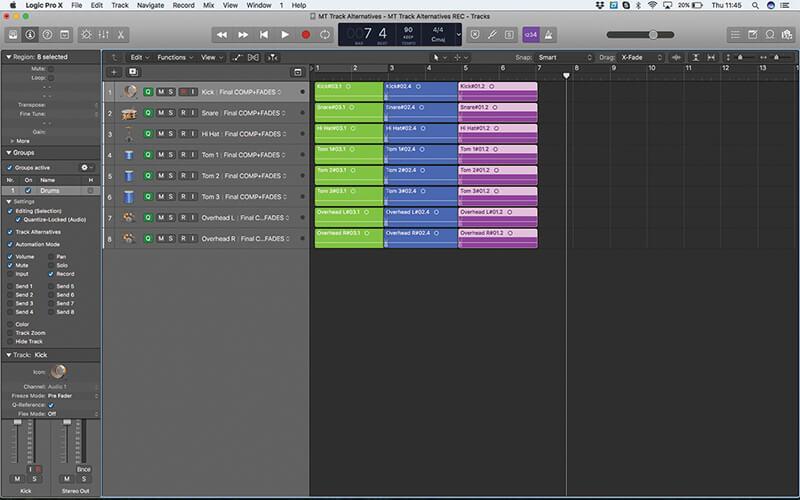 Track Alternatives in Logic Pro X - Step 17
