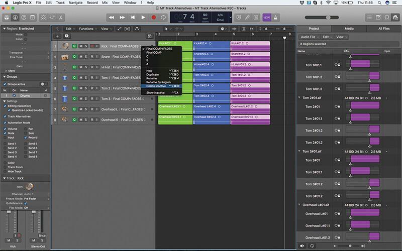 Track Alternatives in Logic Pro X - Step 18