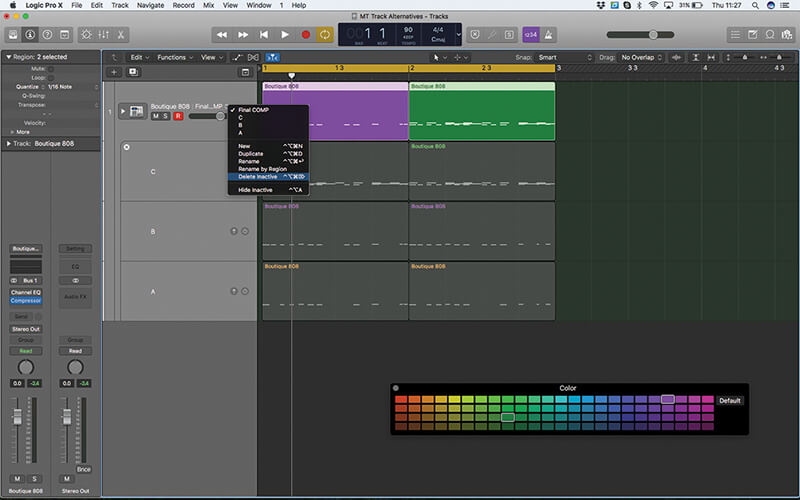 Track Alternatives in Logic Pro X - The MusicTech How To