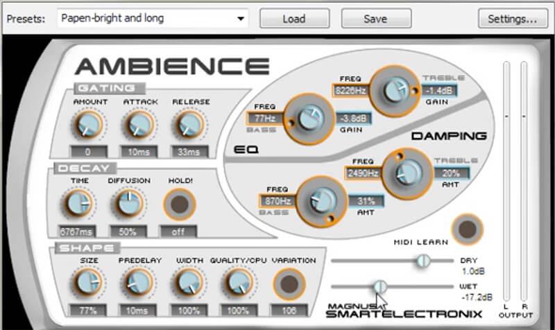 freeware reverb - Magnus Ambience
