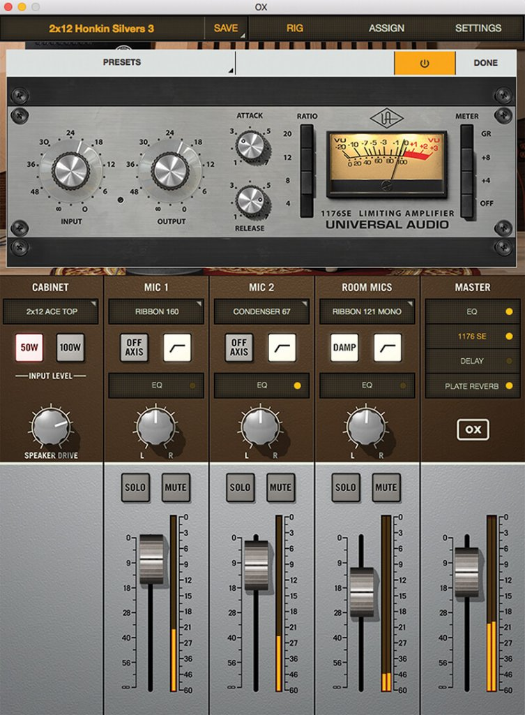 Universal Audio OX screenshot