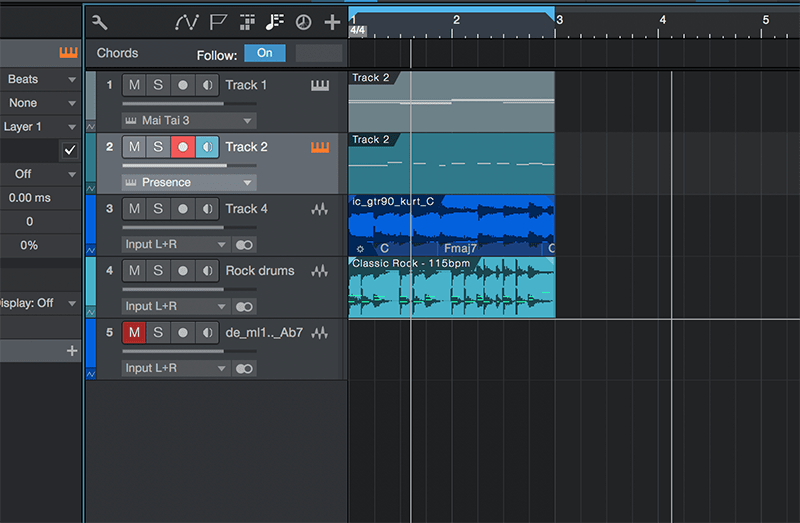 Basic song arranging in Studio One - Step 1