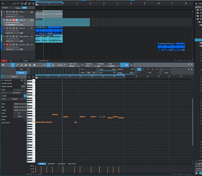 Basic song arranging in Studio One - Step 2