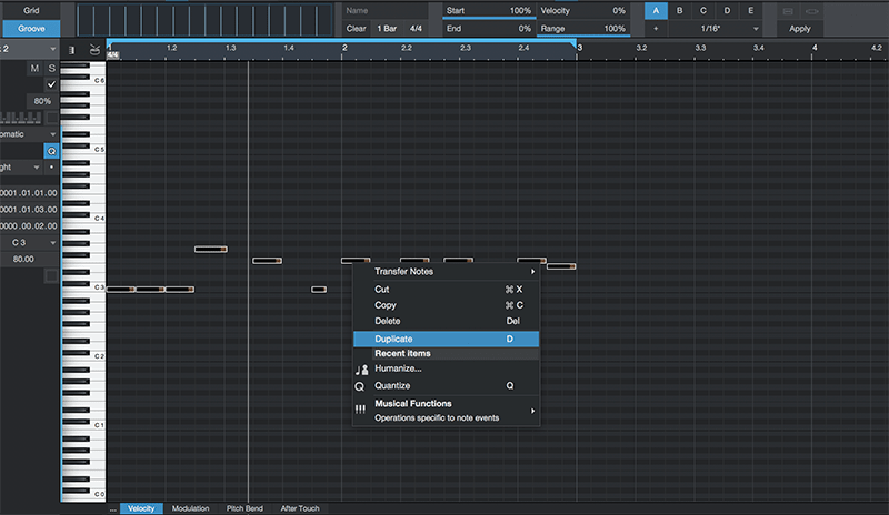 Basic song arranging in Studio One - Step 4