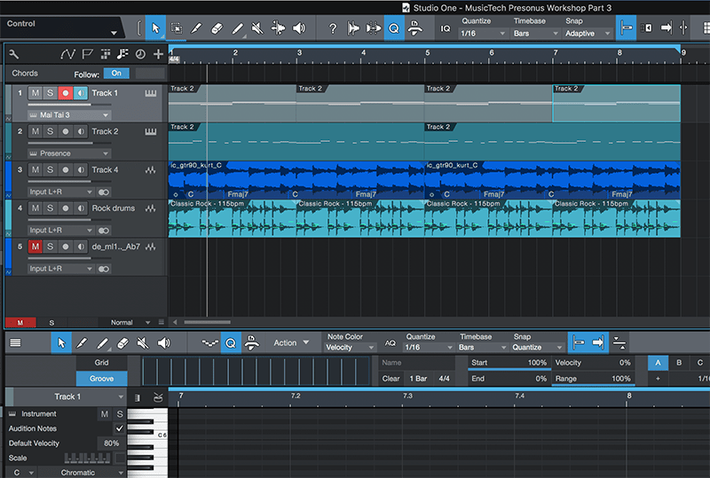 Basic song arranging in Studio One - Step 6