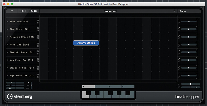 Beat and Pattern Sequencers in Cubase 9.5 - Step 8