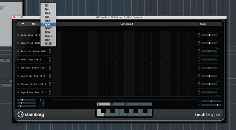 Beat and Pattern Sequencers in Cubase 9.5 - Step 9