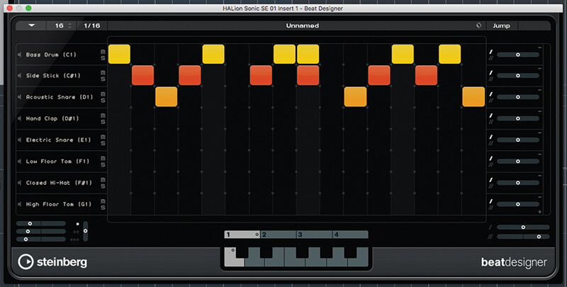 Beat and Pattern Sequencers in Cubase 9.5 - Step 11