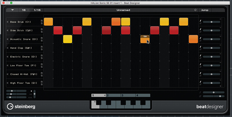 Beat and Pattern Sequencers in Cubase 9.5 - Step 12