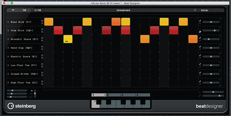 Beat and Pattern Sequencers in Cubase 9.5 - Step 14