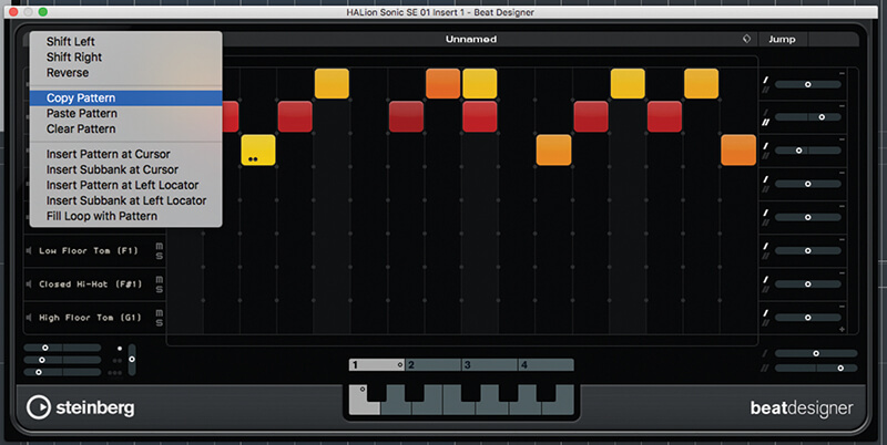 Beat and Pattern Sequencers in Cubase 9.5 - Step 15