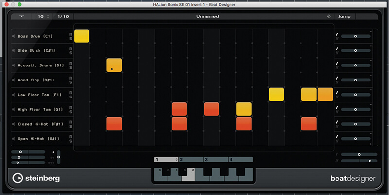 Beat and Pattern Sequencers in Cubase 9.5 - Step 16