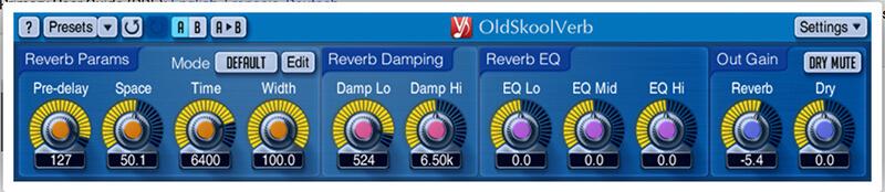 freeware reverb - Voxengo OldSkoolVerb