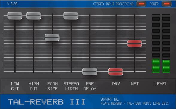 freeware reverb - TAL Reverb 3
