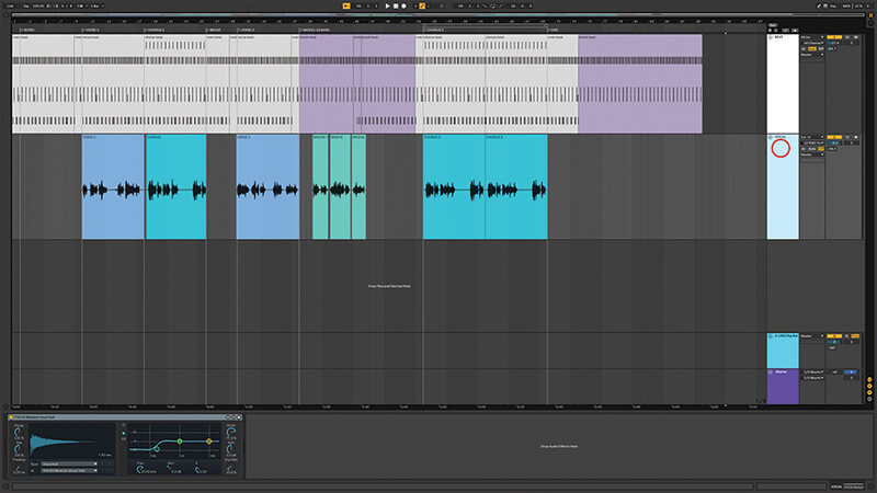 Recording, editing and mixing vocals in Live 10 - Step 4