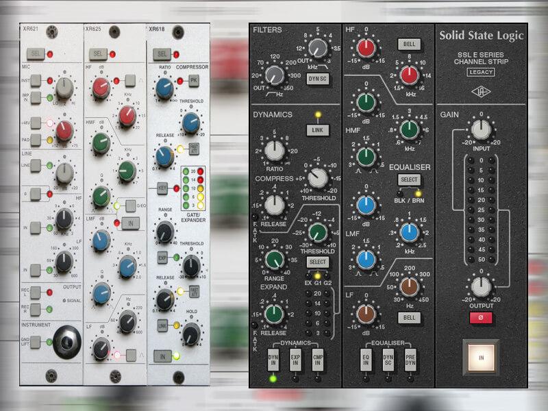 SSL X-Rack Channel Input vs Universal Audio SSL E Series Channel Strip Plug-in