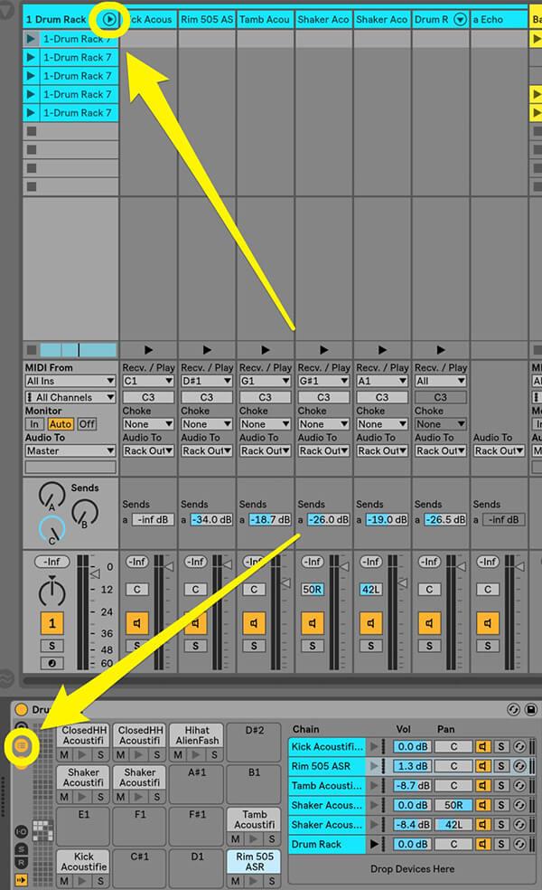 Separating MIDI drum tracks - Step 4