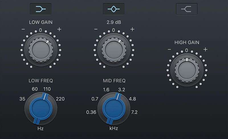 Vintage EQ Plug-ins in Logic Pro X - Step 4