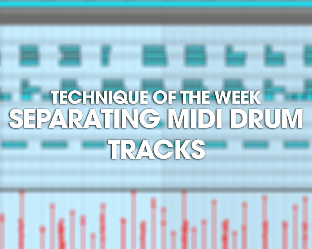 Separating MIDI drum tracks