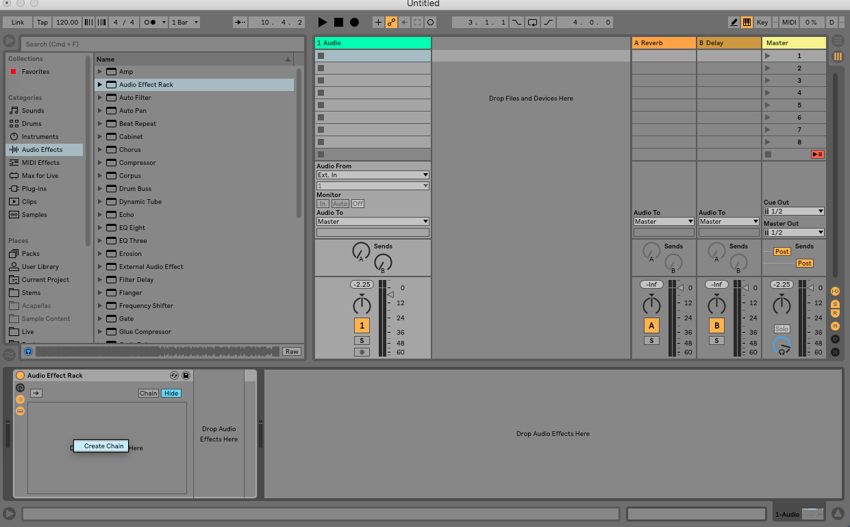 Creative Parallel Processing in Ableton Live - Step 1