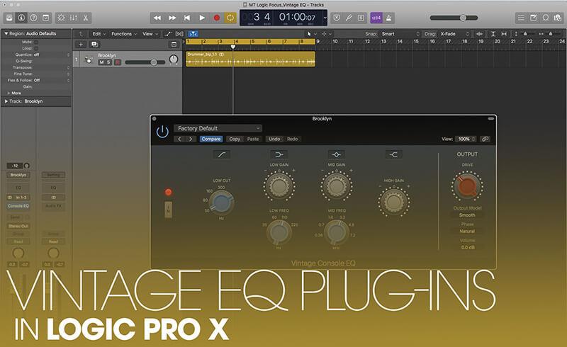 Vintage EQ Plug-ins in Logic Pro X
