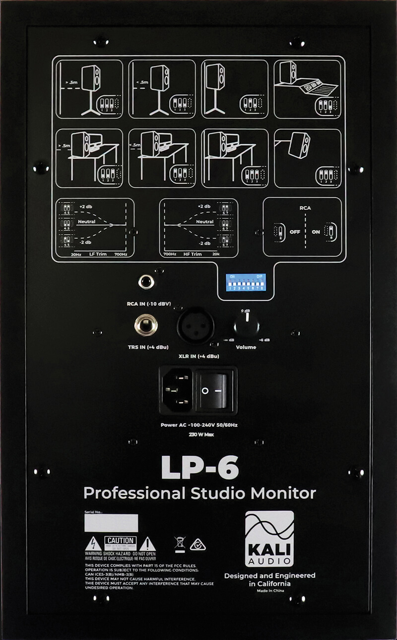 Kali Audio LP-6 - Back Panel