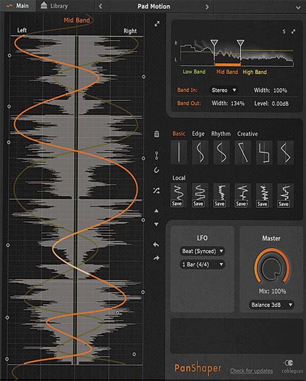 Sound Design Tools - Cableguys Pan shaper
