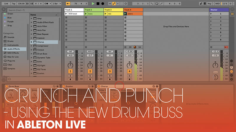 Using the New Drum Buss in Ableton Live