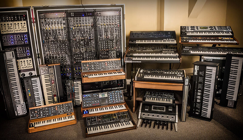 Erik Norlander Interview - Synth wall