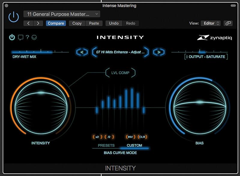 Zynaptiq Intensity - GUI 2