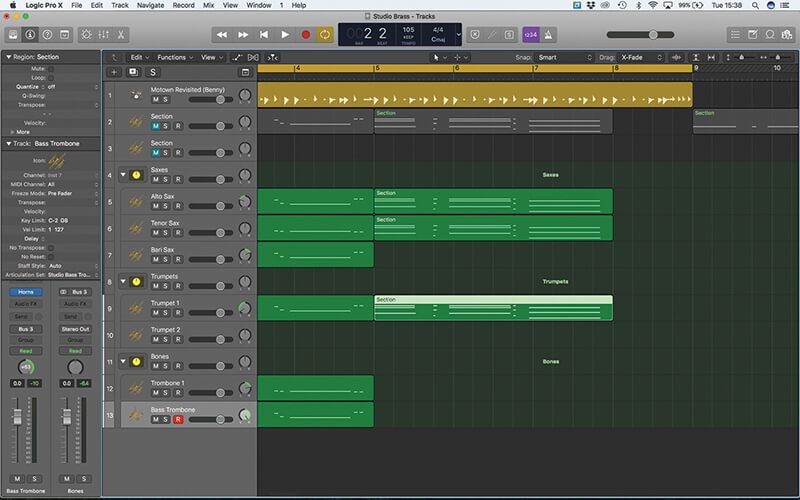 Studio Horns in Logic Pro X - Step 11