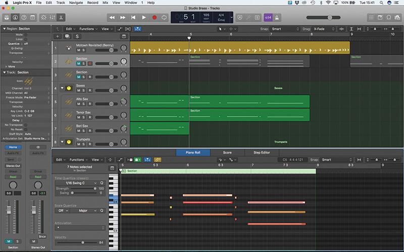 Studio Horns in Logic Pro X - Step 12