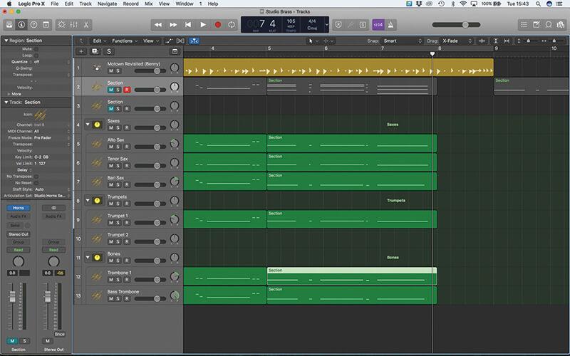Studio Horns in Logic Pro X - Step 14