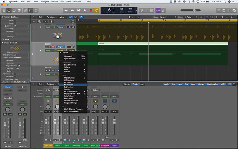 Studio Horns in Logic Pro X - Step 16