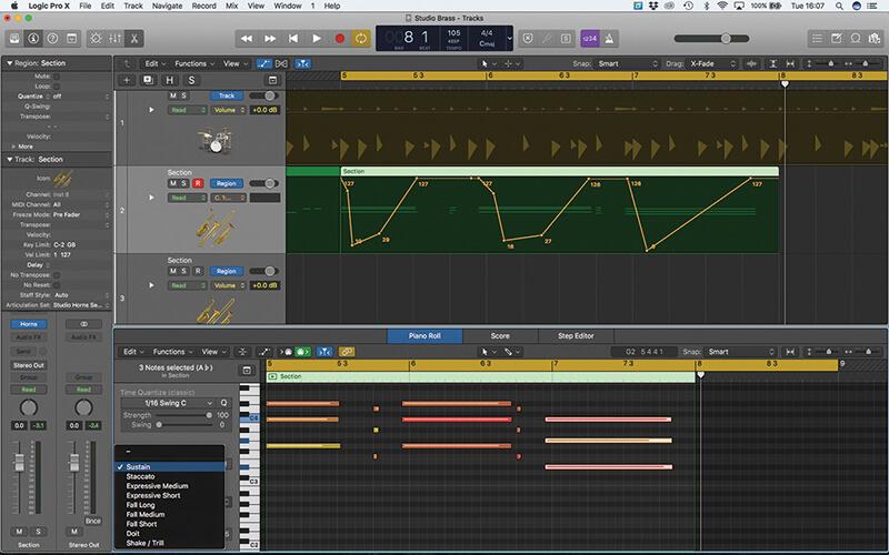 Studio Horns in Logic Pro X - Step 17