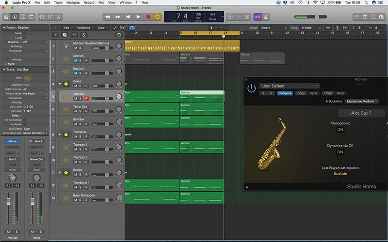 Studio Horns in Logic Pro X - Step 18