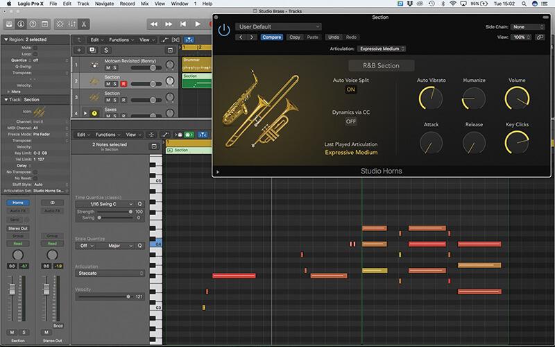 Studio Horns in Logic Pro X - Step 3